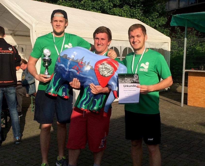 Die Sieger des Elefantenrennen - Das Team der Stadtwerke Hamm