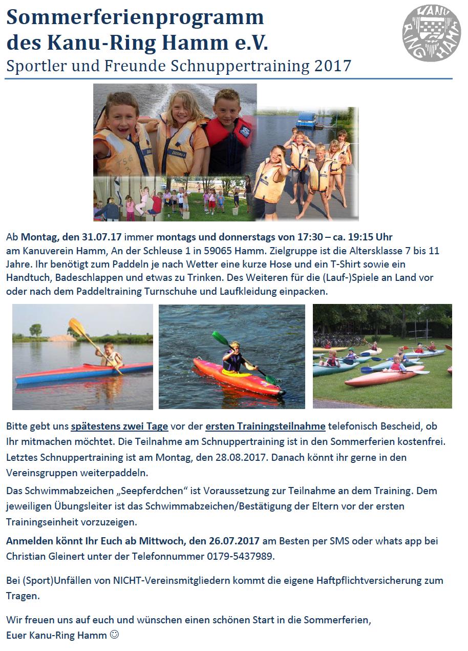 Sommerferienprogramm 2017